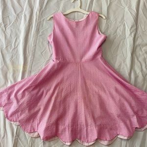 Pink/white seersucker dress